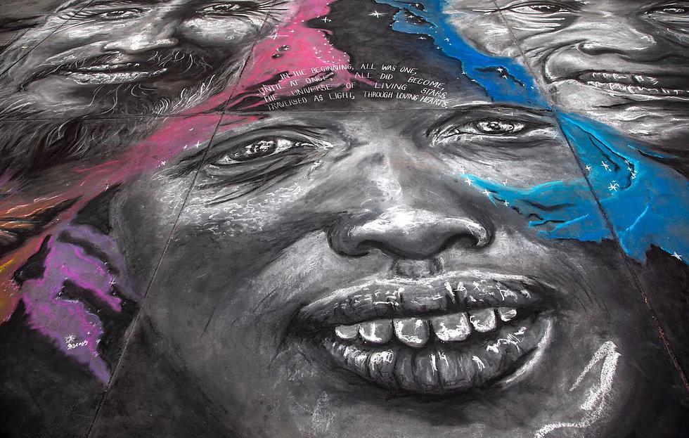Street Art Tribal Portrait by Daniel K S