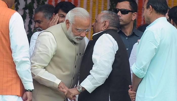 Modi Greeting Mulayam