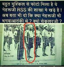 Viral Image of Nehru at RSS