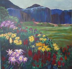 Summer mountain flowers