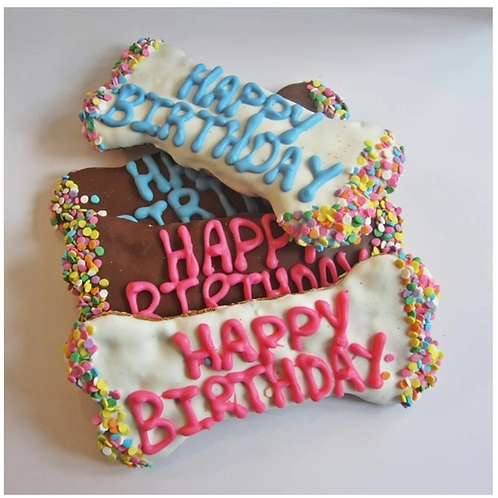 Happy Birthday Dog Bone Treat treat from Dog Park Publishing