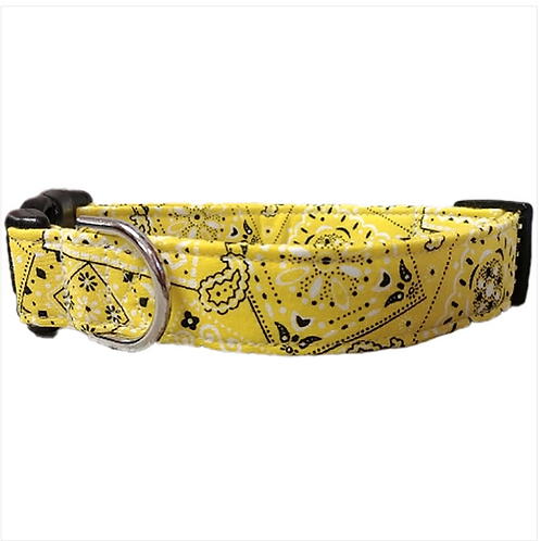 Yellow bandana collar by Buddy and Friends