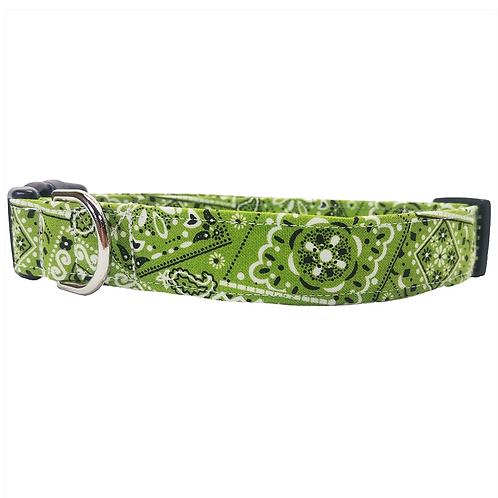 Green bandana collar by Buddy and Friends