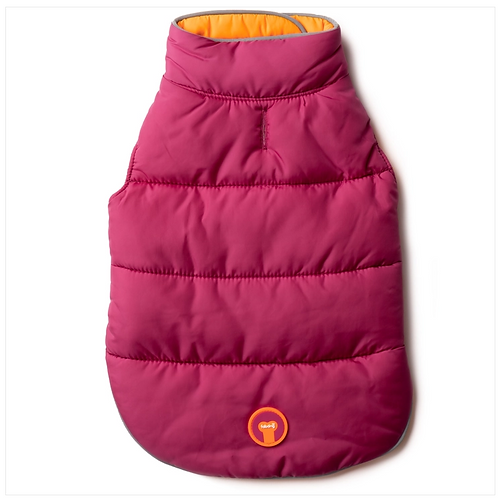 Hot Pink and Orange Reversible Puffer from Fab Dog