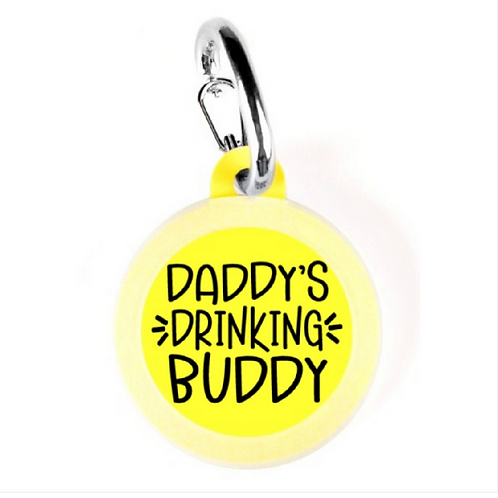 Daddy's Drinking Buddy charm from Bad Tags