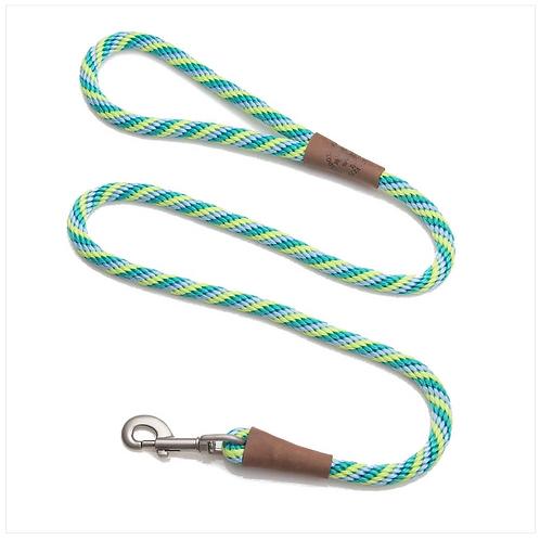 "Seafoam Twist 1/2"" x 6' rope leash from Mendota Pet"