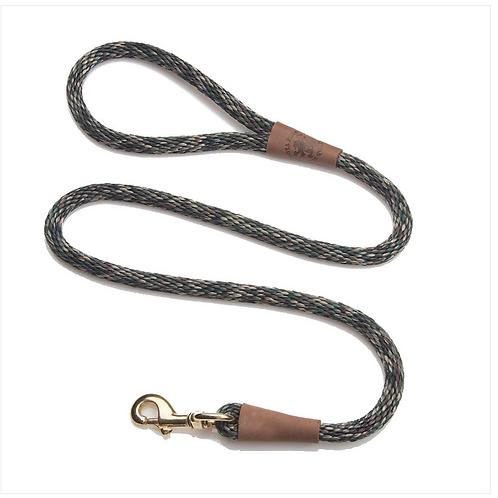 "Camo 1/2"" x 6' rope leash from Mendota Pet"