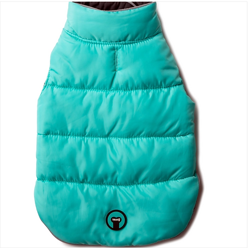 Aqua and Black Reversible Puffer from Fab Dog