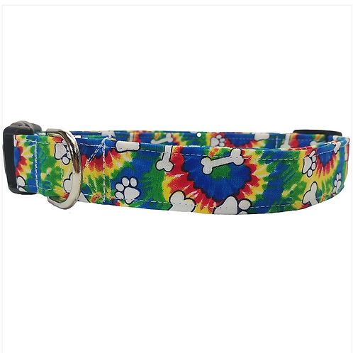 Tie Dye collar by Buddy and Friends