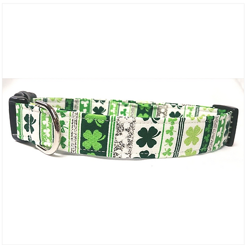 Green shamrock collar by Buddy and Friends