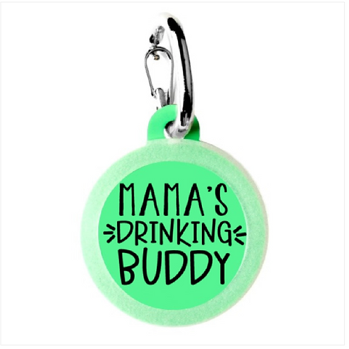 Mama's Drinking Buddy charm from Bad Tags