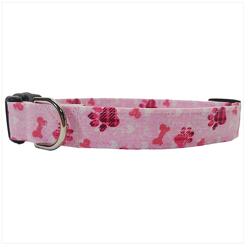 Pink Paws collar by Buddy and Friends