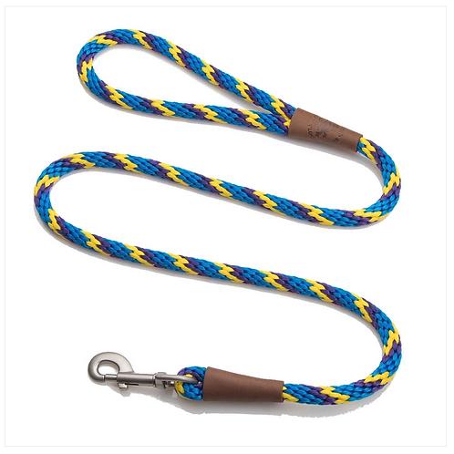 "Sunset Twist 1/2"" x 6' rope leash from Mendota Pet"