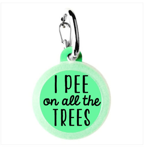 I Pee on All the Trees charm from Bad Tags