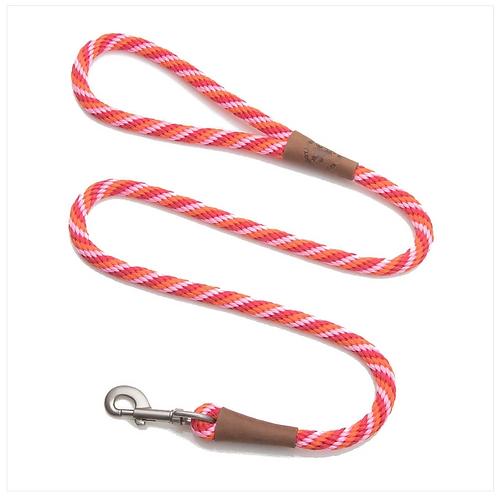 """Taffy Twist 1/2"""" x 6' rope leash from Mendota Pet"""