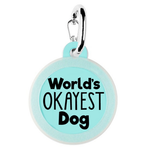 World's Okayest Dog charm from Bad Tags