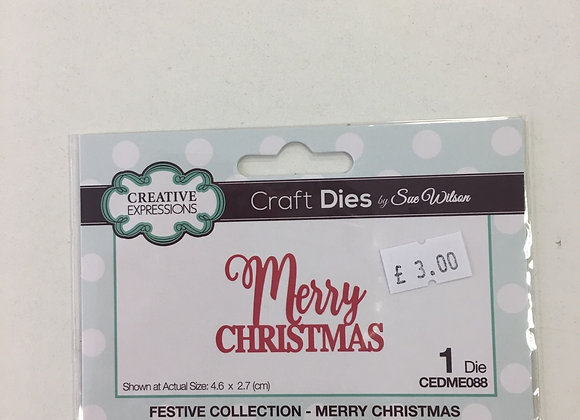 CREATIVE EXPRESSION DIE - MERRY CHRISTMAS