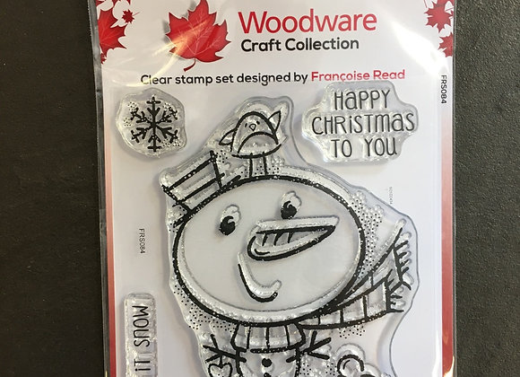 WoodWare Stamp - LITTLE SNOWMAN