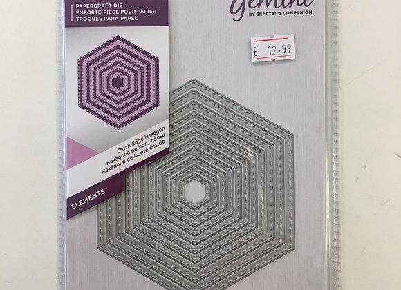 Gemini cutting dies - Stitch Edge Hexagon