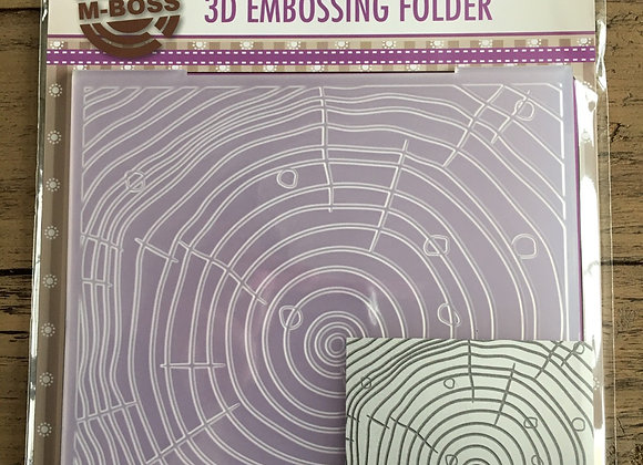 NELLIE S CHOICE - 3D EMBOSSING FOLDER- GROWTH RINGS