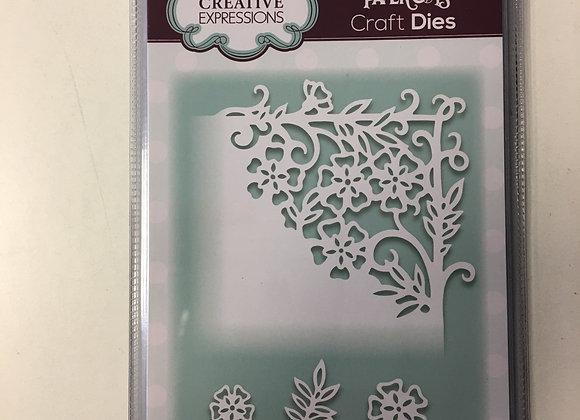 Creative  Expressions cutting die -  PAPER CUTS CORNER FORGET ME KNOT