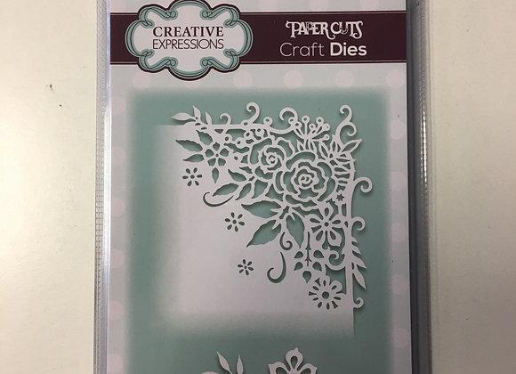 Creative  Expressions cutting die -  PAPER CUTS CORNER ROSE