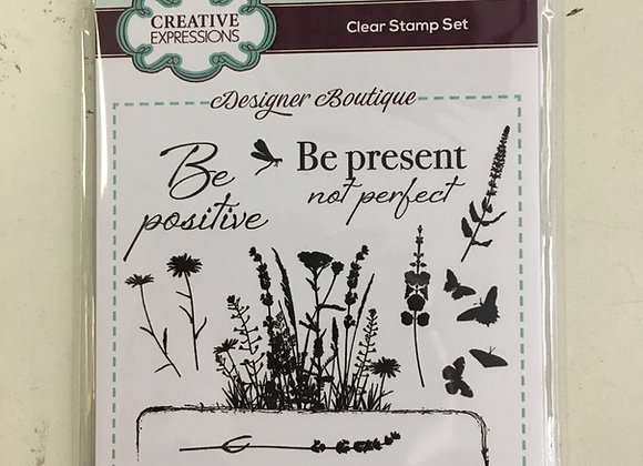 CREATIVE EXPRESSIONS A6 STAMP SET -  SWEET MEADOW