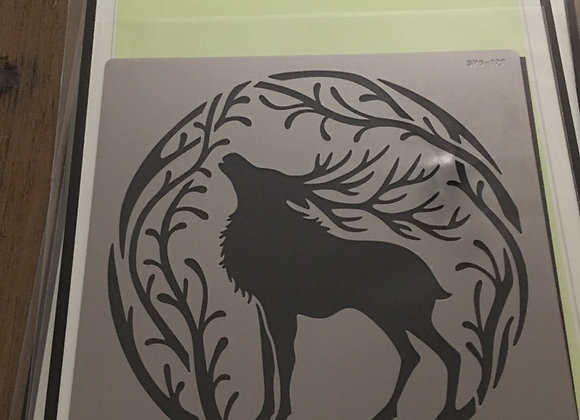 SWEET POPPY METAL STENCIL - STAG COURAGE