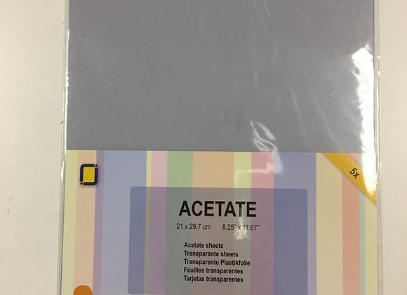 ACETATE SHEETS THICK  (5 sheets)