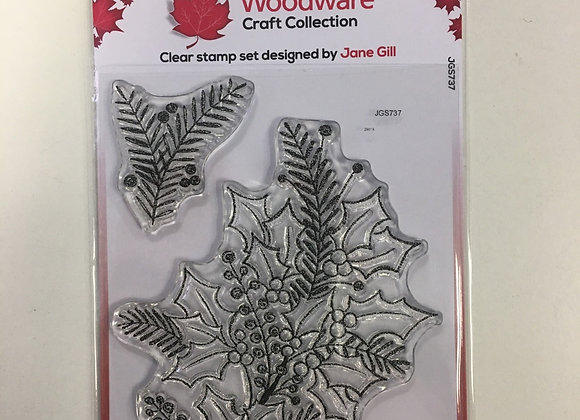 WoodWare Stamp - Sketchy Sprigs
