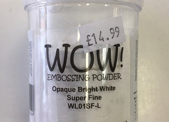 WOW EMBOSSING POWDER - OPAQUE BRIGHT WHITE-160ml