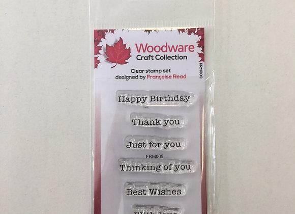 WoodWare Stamp - Mini Greetings