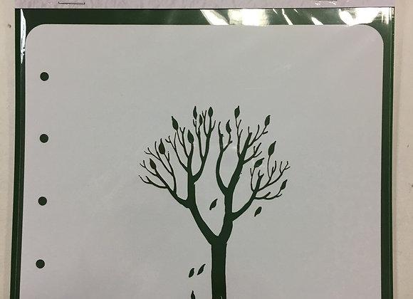 Nellie's Stencil - TREE - A6