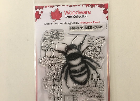 WoodWare Stamp - Bee Kind