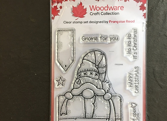 WoodWare Stamp - GNOME GIFT