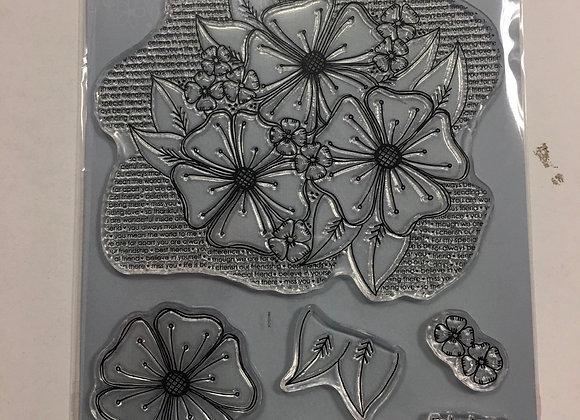 Julie Hickey Designs - A5 BLOOMING FLORALS STAMP  SET
