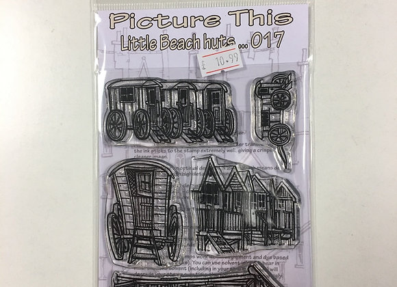 PICTURE THIS STAMP- LITTLE BEACH HUTS- 017