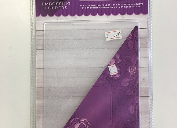 Crafters Companion 3D Embossing Folder -Rose Bouquet