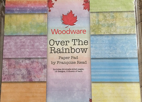 """WoodWare OVER THE RAINBOW  PAPER PAD-8"""" x 8"""""""