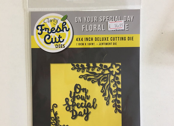 Clarity On your special day frame Die