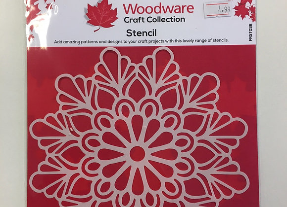 Woodware Craft Stencil - Teardrop Mandala