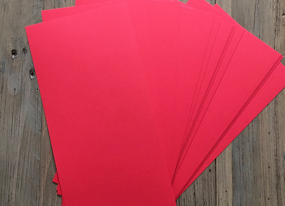 15cm x 30cm - True Red Card - 50 Sheets
