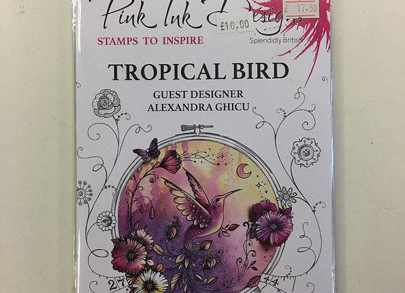 Pink Ink Stamps - Tropical Bird