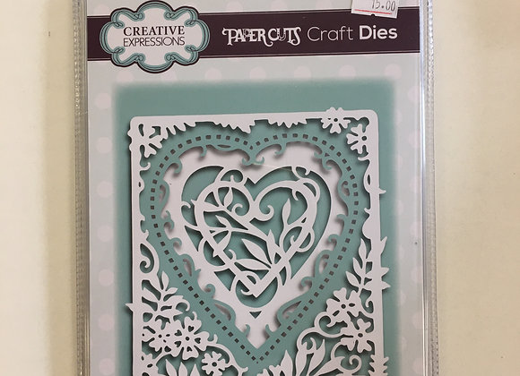 Creative Expressions paper cuts collection entwined heart