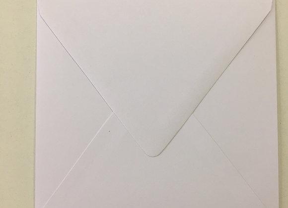 16cm x 16cm - WHITE Envelopes - x 25