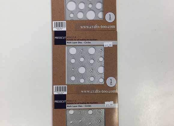 Presscut Multi Layer Dies - Circles - 3 Dies