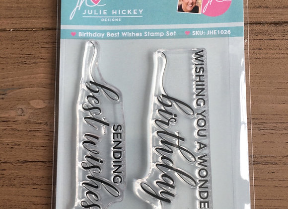 Julie Hickey Designs -  BIRTHDAY BEST WISHES STAMP SET