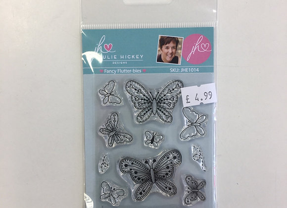 Julie Hickey Designs Fancy Flutter-bies Stamp