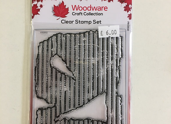 Woodware Clear Stamp Set - Torn Cardboard