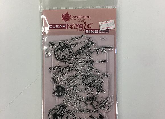 WoodWare Stamp - Memories